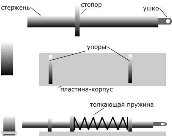 Схема запора для распашных ворот