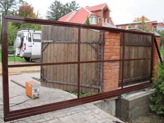 Каркас для откатных ворот