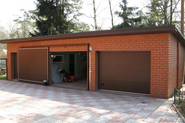 Откатные стальные гаражные ворота
