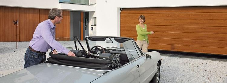 Ворота гаражные с электроприводом