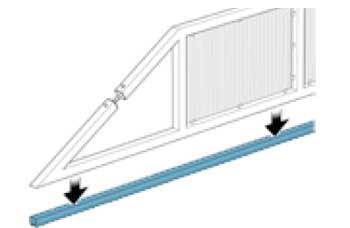 Схема направляющей для откатных ворот