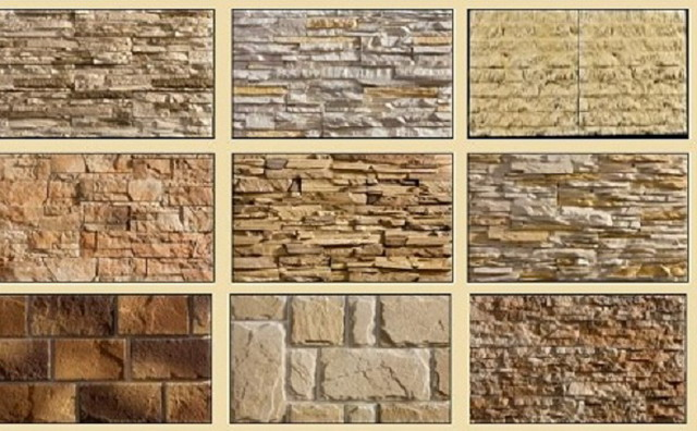 Различные варианты искусственного камня для забора