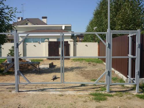 Каркас ворот и калитки из металлопрофиля