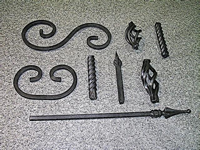 Набор элементов кованого декора