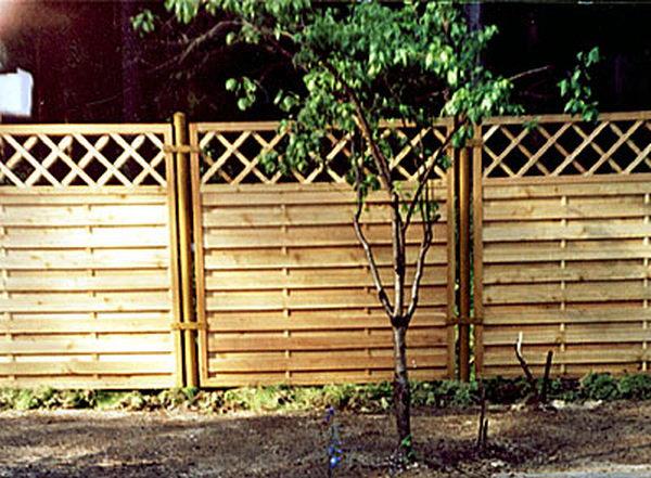 Как сделать забор для дачи из профнастила своими руками 80