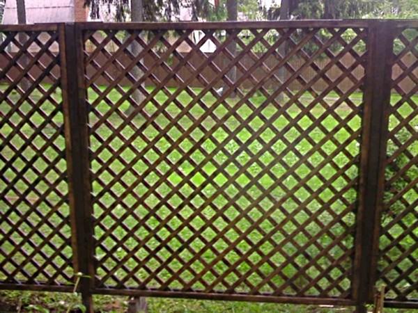 """Забор для дачи """"Решетка"""""""