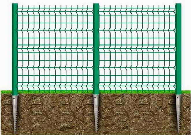 Схема установки забора из металлической сетки