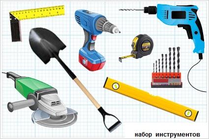 Набор инструментов для изготовления калитки из профнастила