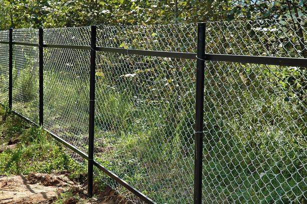 Забор для дачи из сетки-рабицы