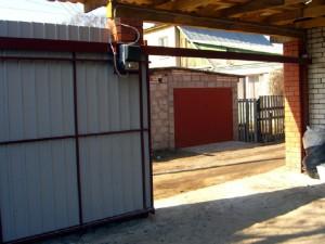 Откатные подвесные ворота фото