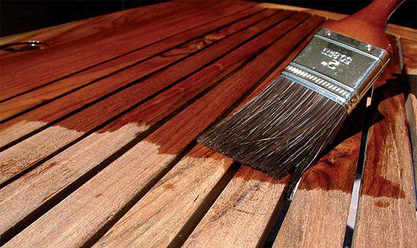 Грунтовка деревянной калитки