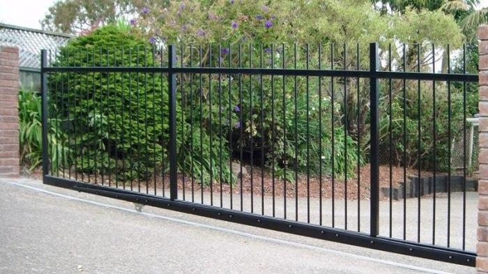Рельсовые откатные ворота