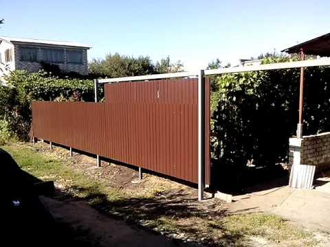 Подвесные откатные ворота для дачи
