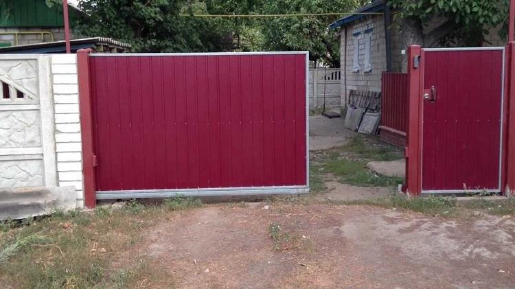 Ворота для дачи своими руками фото