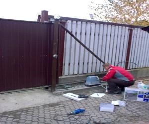 Фото откатные ворота своими руками