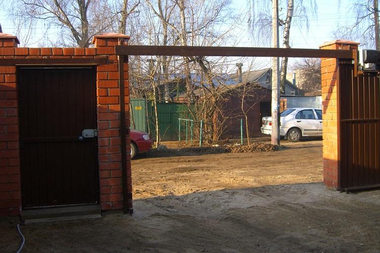 Подвесные откатные ворота