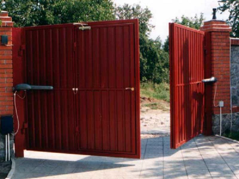 Автоматические распашные ворота фото ворота на заказ цены в красноярске