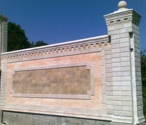 заборы из дагестанского камня фото