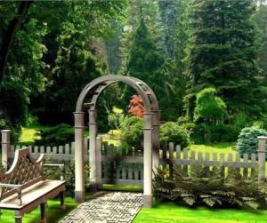 Фото садовой калитки аркой