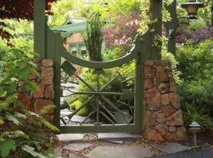 Фото садовой калитки стиль