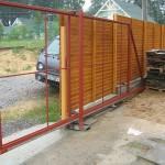 Видео установка откатных ворот