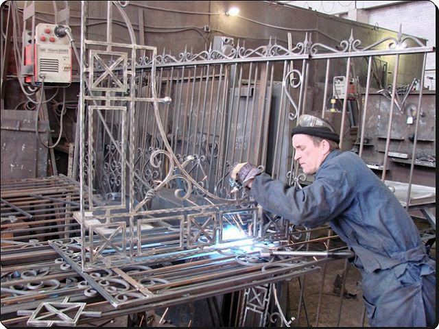 Изготовление кованых ворот своими руками