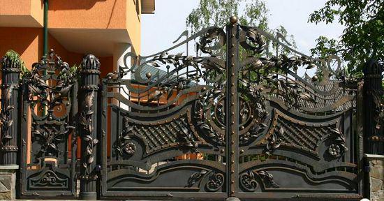 Ворота кованые в стиле барокко