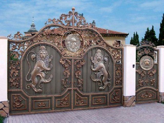 Кованные ворота - стиль барокко