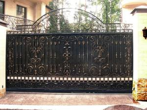 Металлические сплошные ворота ворота для частного дома металлические фото