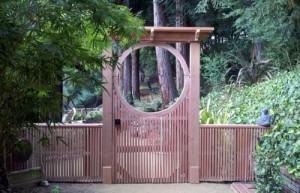 Фото садовой калитки круг